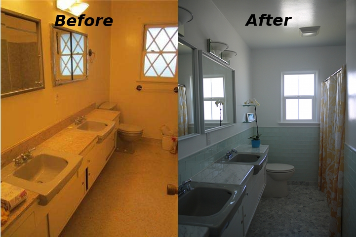 07 before and after - 1950s Bathroom Remodel Before And After